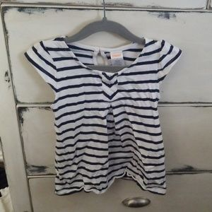Gymboree Navy and White Striped Top